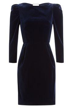 Velvet dresses for Fall Winter (The Blonde Salad) Blue Dresses, Short Dresses, Dresses For Work, Fitted Dresses, Blue Velvet Dress, Velvet Dresses, Structured Dress, The Blonde Salad, Boat Neck Dress