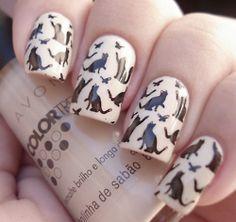 omg, kitty nails!