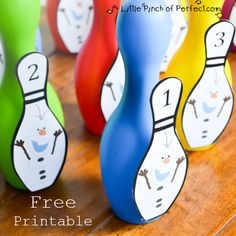 A Little Pinch of Perfect: Free Printable: Olaf Bowling Game