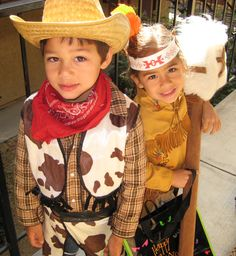 5th Halloween-Cowbow and Indian--err Native American