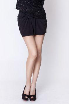 secret PAL  black shorts drapes by thesecretPal on Etsy, $169.00
