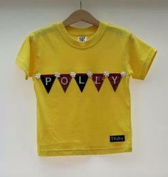Personalised children's bunting T shirt by Titchy.net