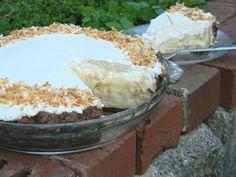 coconut cream pie w/chocolate crust