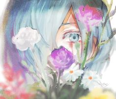 Touka in Flowers this art looks so peacefull i cant stop stareing it!!!!