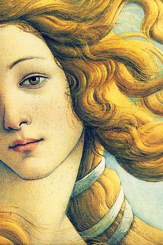 """Birth Of Venus""  (detail)  1483-85 -- Sandro Botticelli (Alessandro di Mariano di Vanni Filipepi) (1445 – 1510, Italian) -- Tempera on wood -- Uffizi Gallery -- Florence, Italy"