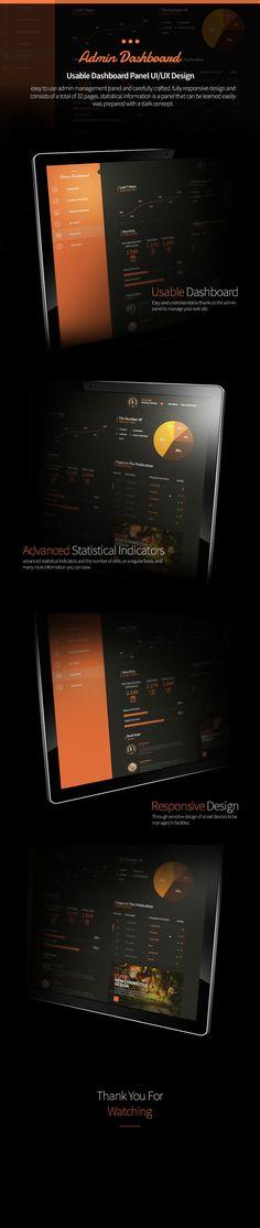 Admin Dashboard - UI/UX Design / Dark Concept —  Project By Selahattin Taşkıran #ack #cubinspiration