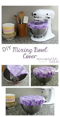 Sewing For Beginners Projects DIY Mixing Bowl Cover - Sew your own cute bowl cover Sewing Hacks, Sewing Tutorials, Sewing Crafts, Sewing Tips, Sewing Ideas, Textiles, Leftover Fabric, Sewing Projects For Beginners, Cute Sewing Projects