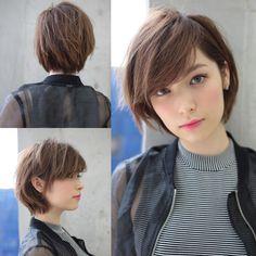 Hair cuts - Trend Hair Makeup And Outfit 2019 Girls Short Haircuts, Cute Hairstyles For Short Hair, Pretty Hairstyles, Short Hair Cuts, Bob Haircuts, Asian Haircut Short, Asian Hairstyles, Oval Face Hairstyles, Shot Hair Styles