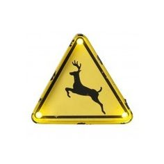 Deer Crossing Sign with LED