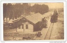 Train At Railroad Depot , GOODING , Idaho , PU-1911 - Delcampe.com