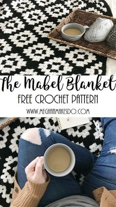 COOL GRANNY SQUARE BLANKET FREE TUTORIAL - COOLE GRANNY DEKEN GRATIS PATROON