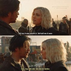 """""""The Blood of Sanctum"""" I Already Miss You, The 100 Quotes, Bob Morley, The Blacklist, Eliza Taylor, I Ship It, Bellarke, The Hundreds, We Meet Again"""