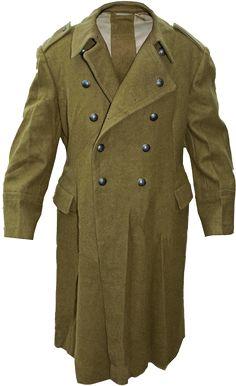 Genuine Romanian Trench Coat Military Army Wool Overcoat Heavy Winter Shinel NEW