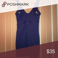 Blue cut out bodycon dress Boutique bought cut out blue dress. Great material. Fits 2, 4, 6. Great for girls with smaller boobs. Dresses Mini