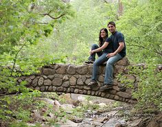 This little stone bridge is such a romantic place for engagement pictures in Colorado Springs. By Colorado Springs Engagement photographer Black Forest Photography http://www.blackforestphoto.com