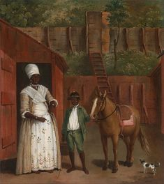 Creator Agostino Brunias, Italian, active in Britain Title A Mother with her Son and a Pony Date ca. 1775 Medium Oil on canvas Dimensions 13 x 11 inches x cm) Credit Line Yale Center for British Art, Paul Mellon Collection Accession Number Black History, Art History, British West Indies, Google Art Project, Michel, Heritage Image, Art Google, Black Art, 18th Century