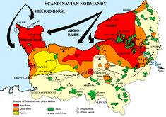 The Vikings in Normandy: Density of Scandinavian place names