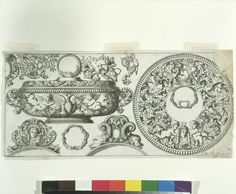 Proper Ornaments to be Engrav'd on Plate  Object: Design for silver engraving  Place of origin: London, England  Date: ca. 1694