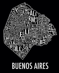 Buenos Aires  * Illustration * Affiche ❤️