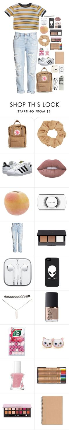 """""""School outfit   """" by rosita562 ❤ liked on Polyvore featuring Fjällräven, Topshop, Polaroid, adidas Originals, Lime Crime, MAC Cosmetics, H&M, CO, Wet Seal and NARS Cosmetics"""