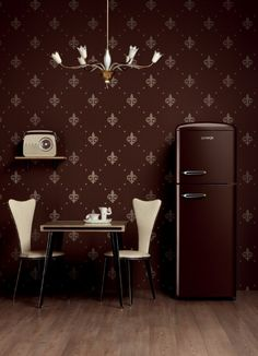 Gorenje Retro Style Freestanding Fridge Freezer in Cream Kitchen Interior, Kitchen Design, Kitchen Ideas, Kitchen Inspiration, Gorenje Retro, Kitsch, Paint Refrigerator, Retro Kitchen Accessories, Freestanding Fridge