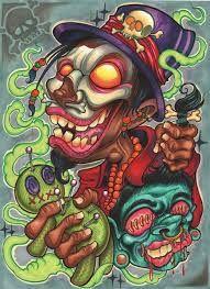 Resultado de imagem para new school Cartoon Drawings, Cartoon Art, Art Drawings, Graffiti Art, Desenho New School, Comics Und Cartoons, Images Alphabet, Clown Tattoo, Graffiti Characters