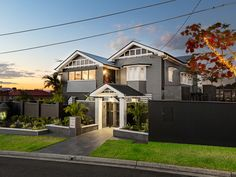 These external and landscape works to a Art Deco Queenslander are a mix of contemporary design with some character features. Queenslander, Brisbane, Contemporary Design, Landscape Design, Art Deco, Mansions, Architecture, House Styles, Ideas