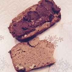 Gluten, dairy and sugar free banana and pecan loaf.