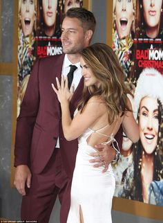 Chrishell showed off her wedding back as she posed up a storm in her revealing ensemble Justin Hartley, Christmas Mom, Hair And Nails, Red Carpet, Hair Beauty, Husband, Poses, Ring, My Style