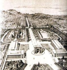 1930 / Extension of Avenida da Liberdade, Lisbon. By Cristino da Silva.