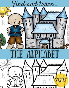 Practice reading and writing the alphabet with this fun scene!