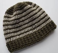 Ravelry: Crocheted Ribbed Hat Pattern pattern by Cindy RecycleCindy