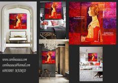 """FOTO-COMPOSCION """"INSPIRACION GIRLANDAIO"""" oleo sobre tabla. Patinas metalizadas. www.carolinasauca.com carolinasauca@hotmail.com Avda. FUENCARRAL 44- Alcobendas. MADRID"""
