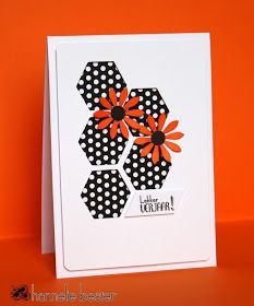 Hi there! I just couldn't resist to use this week's sketch at Case this sketch once more... adding 2 hand made (die cut) flowers for t...