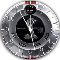 What a cool idea for a clock. Ford Mustang Shelby GT500 faux gas emblem clock. #Accessories