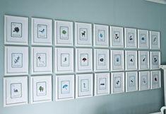 A-Z frames.How adorable!