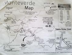 Monteverde travel tips - map