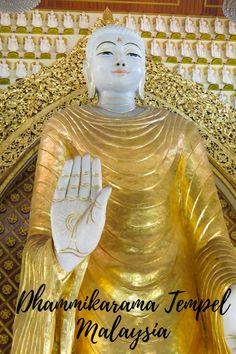 Dhammikarama Tempel - Unter den Augen des großen, weißen Buddha, George Town, Malaysia Taiwan, Vietnam, Buddha, George Town, Album, Statue, Blog, Wings, Treasures Reading