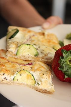Zucchini-Red Onion flatbread. (p.s.This blog has the best recipes!)