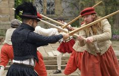 Elizabethan Sailors and Gentlemen were always ready to fend off the next invasion. Geroge Silver advocated the training in martial skills (long swords, quarter staff etc.) insted of the more popular Italian rapier styles.  The Tudor Group - Military Gallery