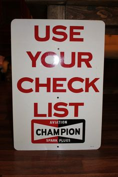 Champion Aviation Sign by Lolasvintagefinds on Etsy, $250.00