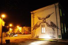 Paris street artist Roa