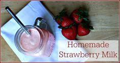 Homemade Strawberry Milk    http://thecoconutmama.com/homemade-strawberry-milk/