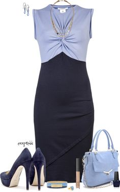 """Contest: Devil with a Blue Dress"" by exxpress ❤ liked on Polyvore"