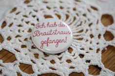 *Brautstrauss* Button zur Hochzeit von *Tante Emmy Laden - das ORIGINAL* auf DaWanda.com