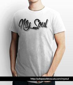 "Camiseta niRah, Linea ""My Soul"", pecho simple sombra1. Blanca."