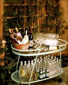 Every self-respecting garden party needs a good bar cart.
