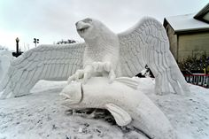 Michigan Ice Carvers | Snow sculptures and ice carvings will dazzle you at Frankenmuth's ...