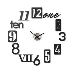 Numbers on the Wall Clock | dotandbo.com