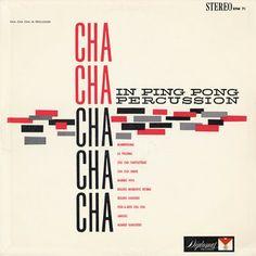 Cha Cha Cha  Ping Pong Percussion  Record Album Cover Art